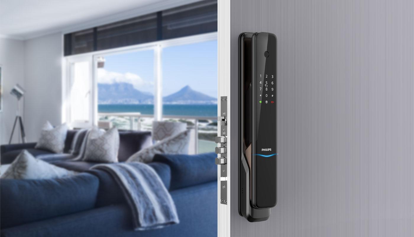 Philips EasyKey 9300 push-pull lock